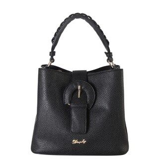 Rimen & Co. Front Magnet Buckle Woven Decor Handle Mini Hobo Handbag (Option: Beige)