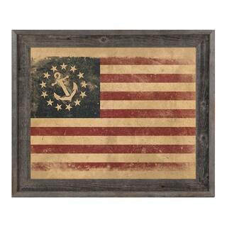 'Yacht Anchor Flag' Wood-Framed Canvas Wall Art