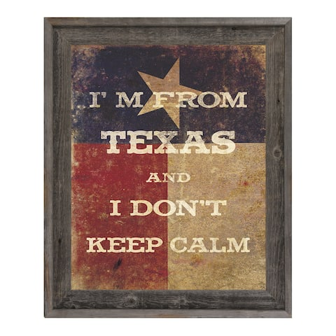 'I'm From Texas' Wood-Framed Canvas Wall Art