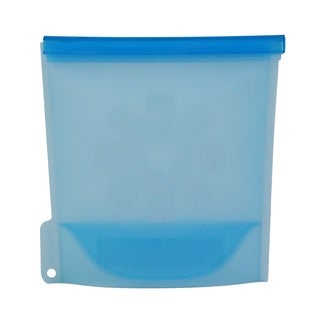 Reusable Blue Silicone BPA-free Microwave-safe Eco-friendly Multipurpose Airtight Storage Container