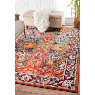 nuLOOM Traditional Flower Persian Multi Rug (9' x 12')
