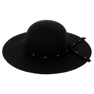 LA77 Black Wide Brim Hat
