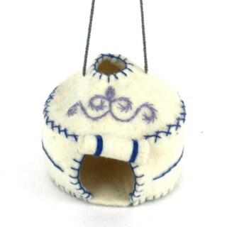 Handmade Felt Yurt Holiday Ornament (Kyrgyzstan)