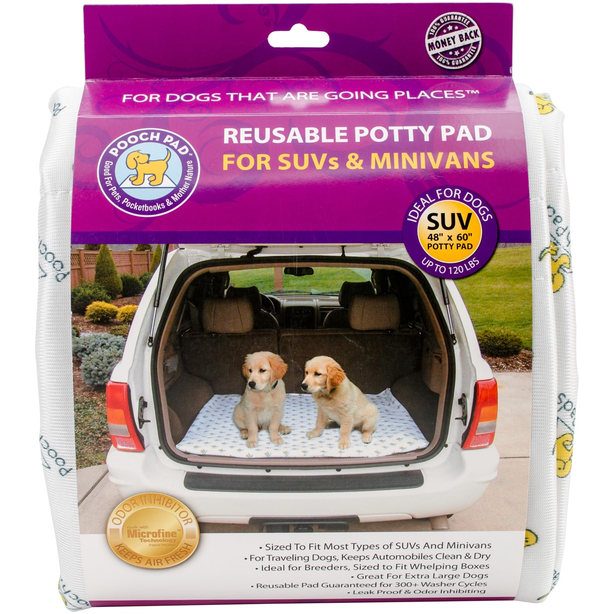 Poochpad Reusable Auto Absorbent Potty Pad (White)