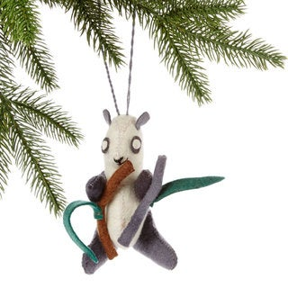Handmade Felt Panda Holiday Ornament (Kyrgyzstan)