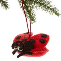 Handmade Felt Ladybug Holiday Ornament (Kyrgyzstan)