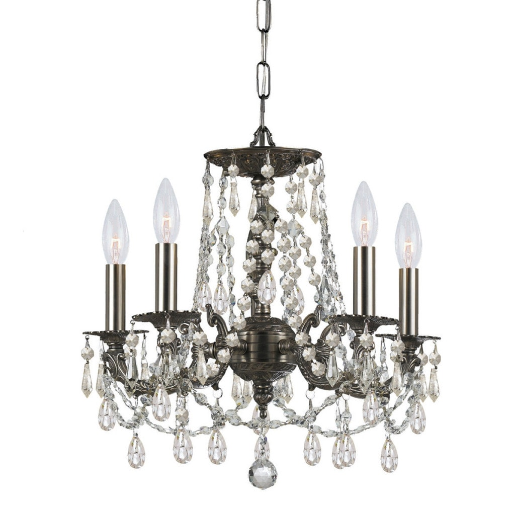 Crystorama Gramercy Collection 5-light Pewter/Crystal Min...