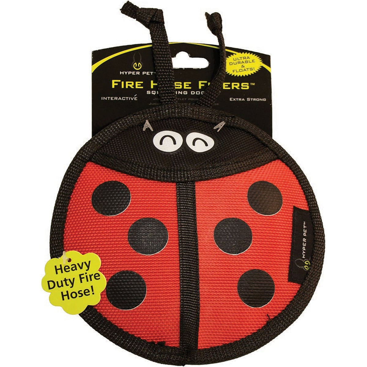 Hyper Pet Firehose Flyers Dog Toy (Bumble Bee), Multi