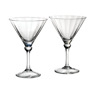 Reed & Barton Austin Clear Crystal Martini Glass (Set of 2)