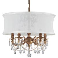 Crystorama Gramercy Collection 5-light Aged Brass/Swarovski Elements Strass Crystal Chandelier