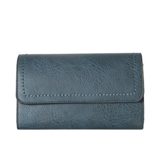 Diophy Classical Multi Spaced Clutch Wallet Accented with Removable Crossbody Handbag