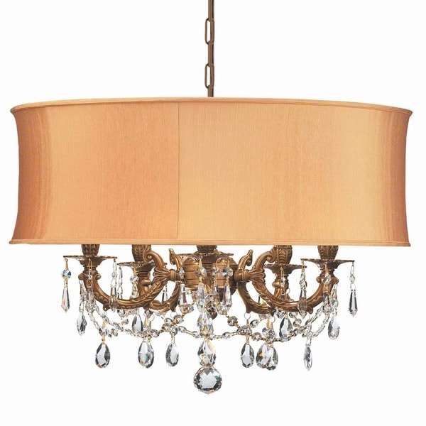 Crystorama Gramercy Collection 5-light Aged Brass/Crystal Chandelier