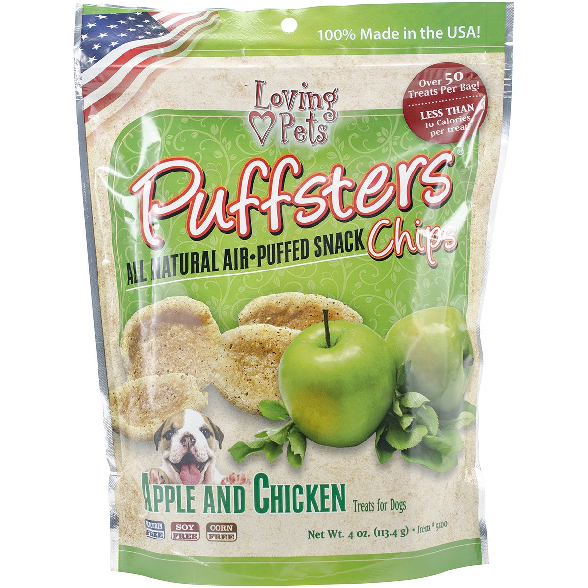 Acurel Puffsters Dog Treat Chips (Sweet Potato & Chicken)...