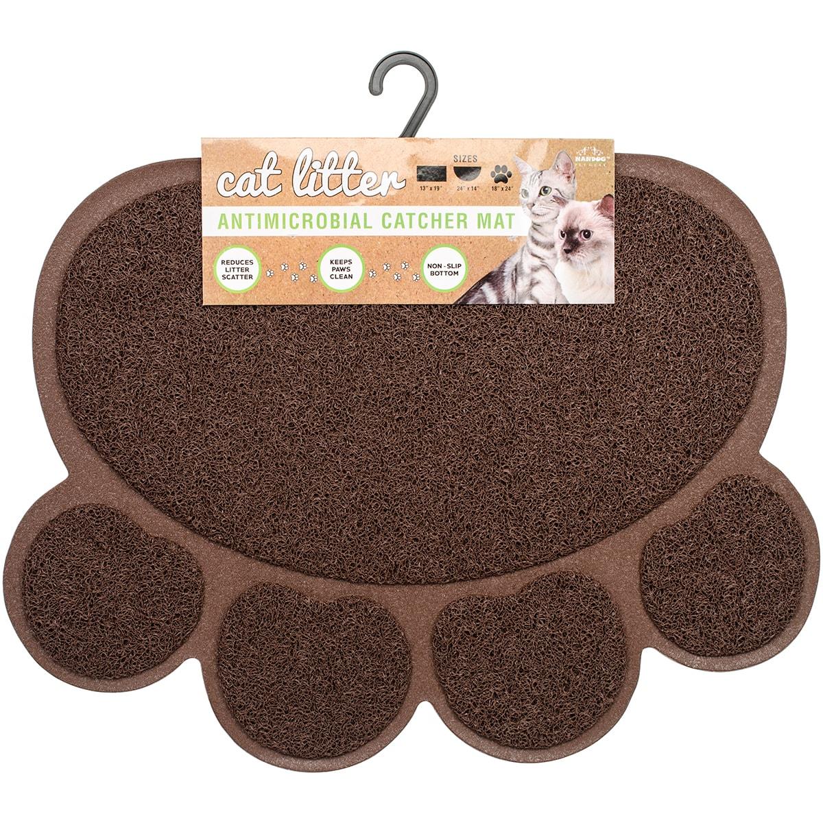Pet Gear Nandog Cat Litter Mat Paw Shaped (Gray), Grey