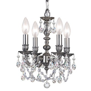 Crystorama Gramercy Collection 4-light Pewter/Crystal Mini Chandelier