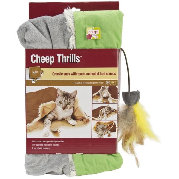 Petlinks Cheep Thrills Crackle Sack w/Bird Sounds Cat Toy