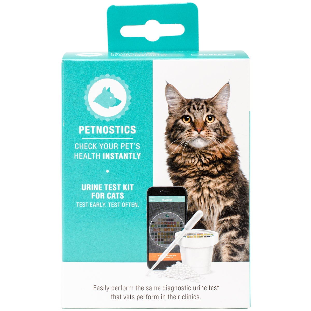 Candy Corner Petnostics Cat Test Kit With Litter Kit and ...