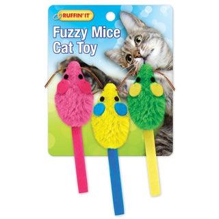 Fuzzy Mice with Catnip Toys