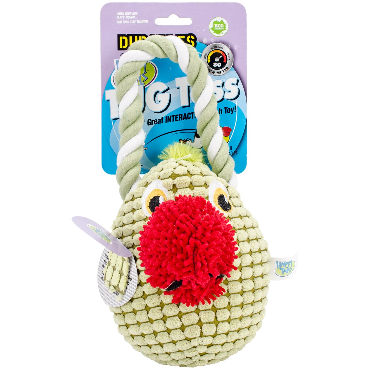 Durables Happy Tails Tug Toss Dog Toy (Parrot), Multi