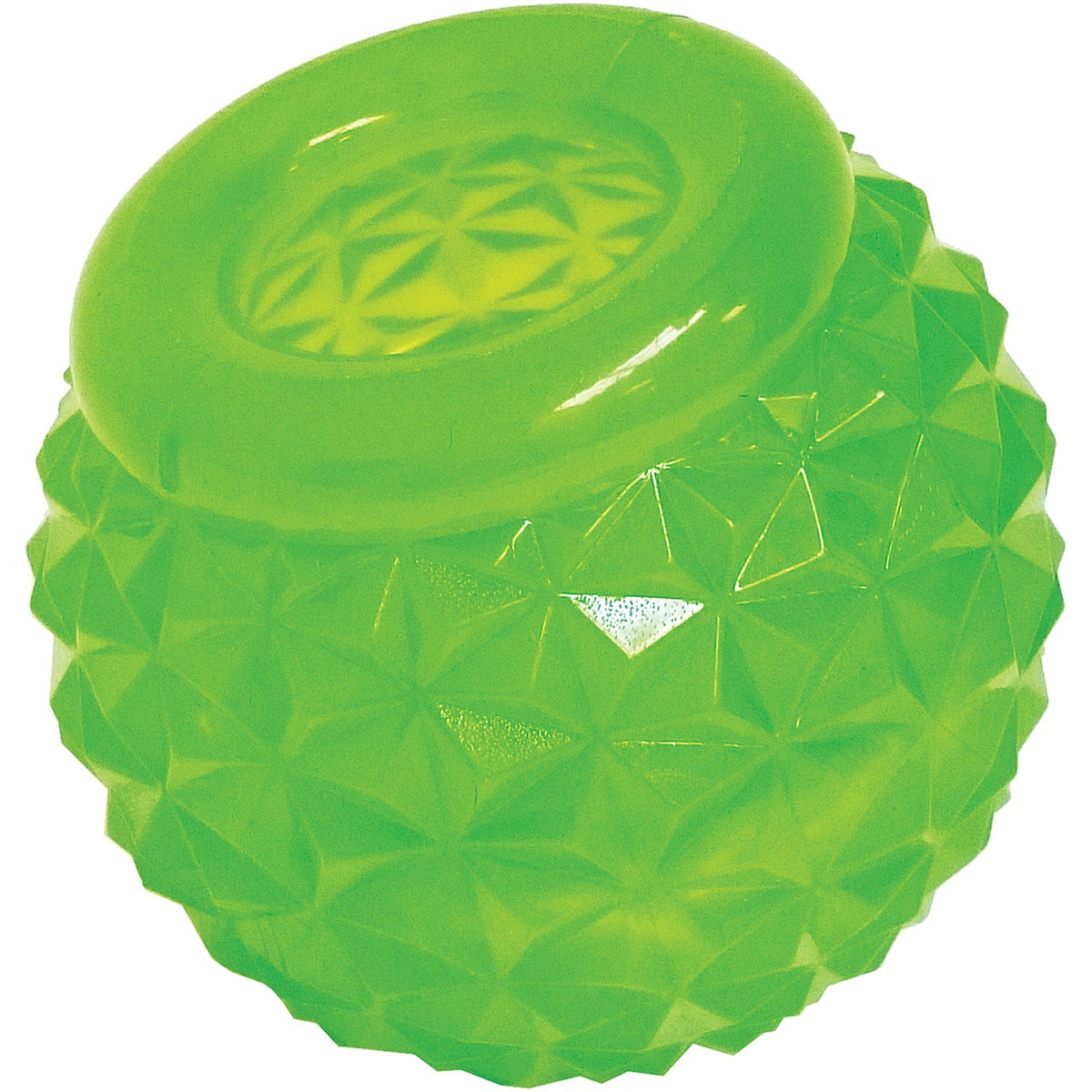 """Puzzle Play'n Chew Dog Treat Toy (Cap Dumbbell 7""""), Green"""