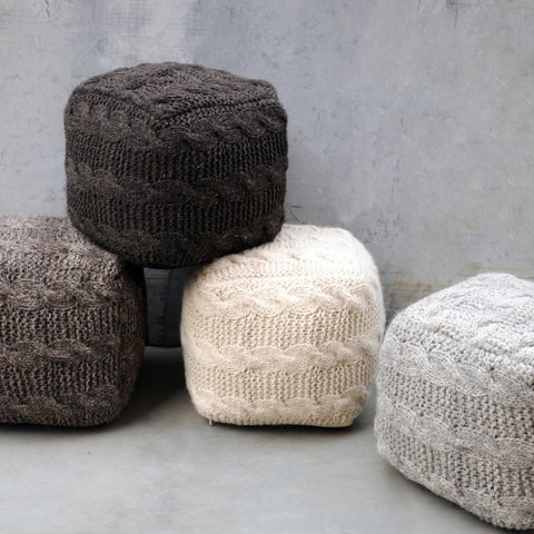 Christopher Knight Home Oslo Wool Pouf