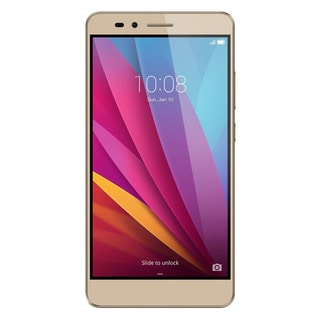 HUAWEI Honor 5X 16GB Unlocked GSM 4G LTE Octa-core Android Phone w/ 13 MP Camera - Gold + PC Translucent Case