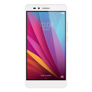 HUAWEI Honor 5X 16GB Unlocked GSM 4G LTE Octa-core Android Phone w/ 13 MP Camera - Silver + PC Translucent Case
