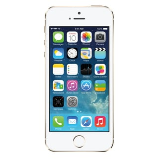 Apple iPhone 5s 32GB Unlocked GSM Phone - Gold (Refurbished)+ Mophie 2779 Powerstation Mini Purple