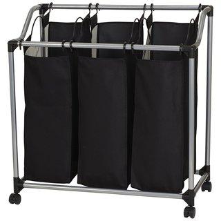 3-bag Laundry Clothes Hamper Sorter