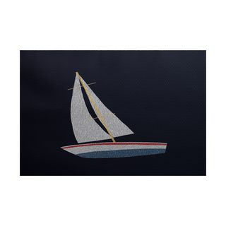Set Sail Geometric Print Indoor/Outdoor Rug