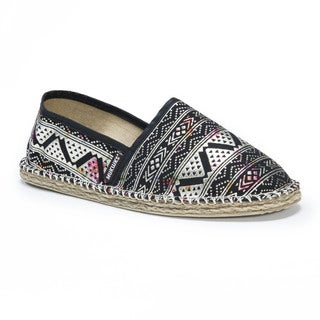 Muk Luks Women's Josie Black EVA and Canvas Slip-Ons