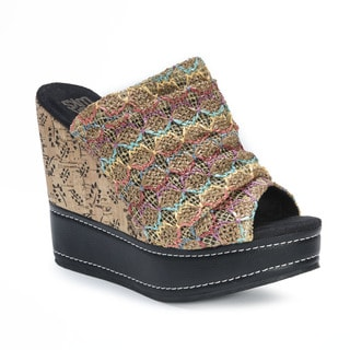 Muk Luks Women's Peyton Brown Wedge Sandals