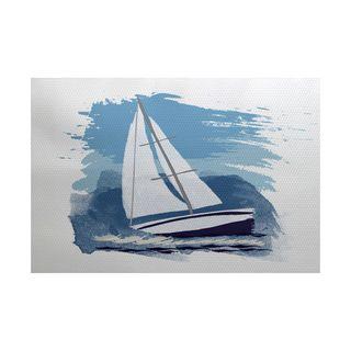 Sailing the Seas Geometric Print Indoor/Outdoor Rug