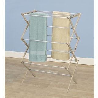 Pine Wood X-Frame Drying Rack