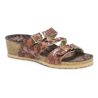 Muk Luks Women's Bette Brown EVA Suede Sandals