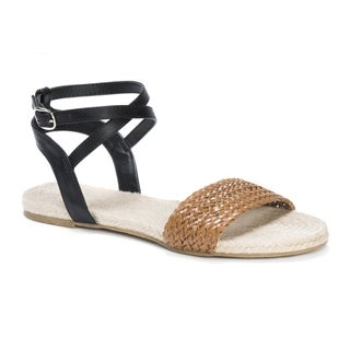 Muk Luks Women's Cordelia Brown Polyurethane Sandals