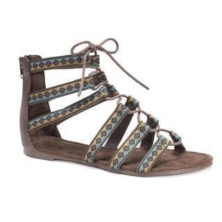 Muk Luks Women's Jessica Brown Polyurethane Sandals