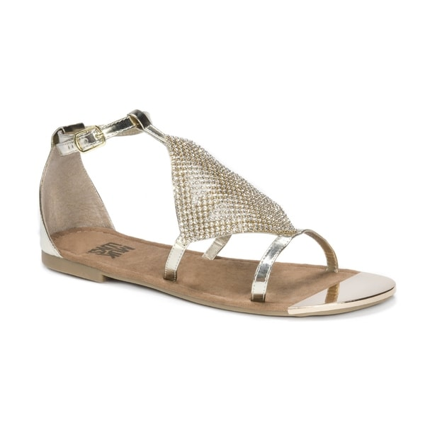 41771b70ae05f0 Shop Muk Luks Women s Linzie Gold-tone Sandals - Free Shipping On ...