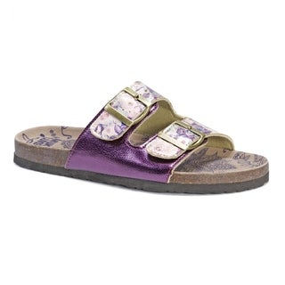 Muk Luks Women's Marla Purple EVA and Suede Sandals