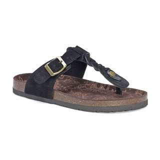 Muk Luks Women's Marsha Black Suede Sandals
