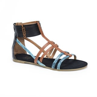 MUK LUKS Women's Tegan Black Sandals