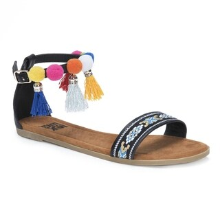 Muk Luks Women's Anaya Black Sandals