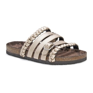 Muk Luks Women's Terri Tan Suede Sandals