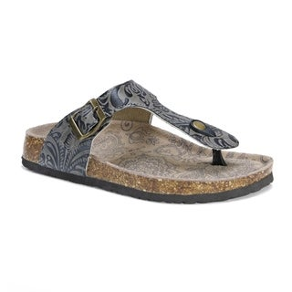 Muk Luks Women's Tina Grey Suede Sandals