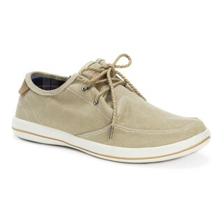Muk Luks Men's Josh Khaki Canvas Shoes
