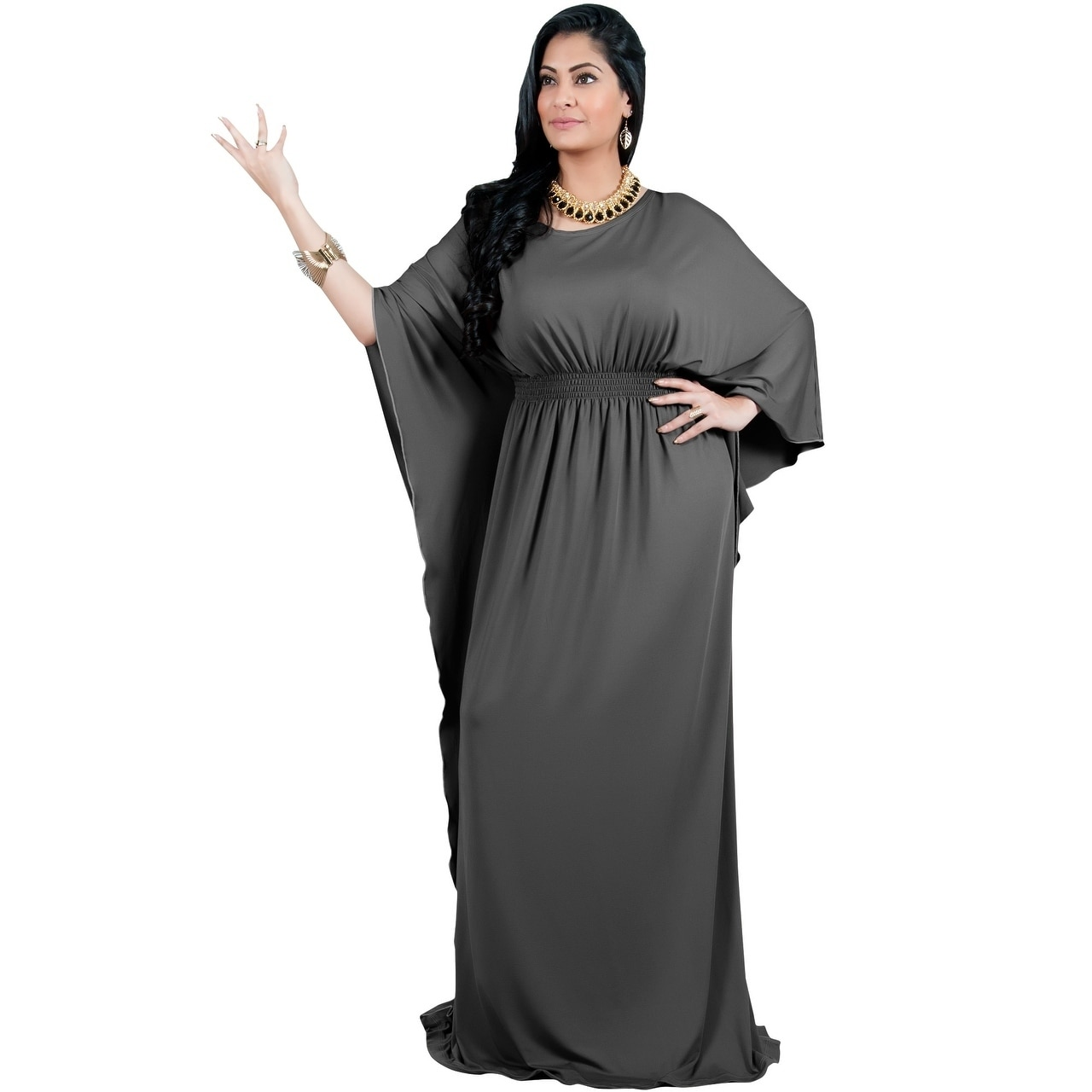 Adelyn Vivian Women S Plus Size Long Batwing Sleeve Cocktail Formal Maxi Dress