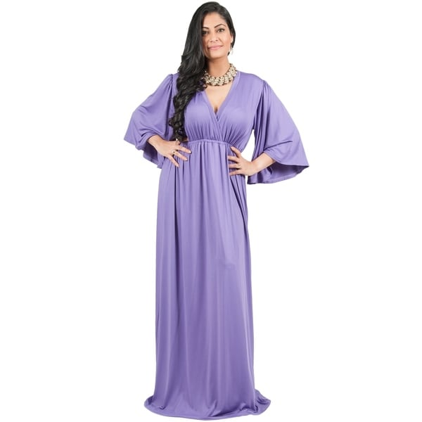 40646e86beb72 Adelyn & Vivian Women's Plus-size Long Kimono Formal Flowy