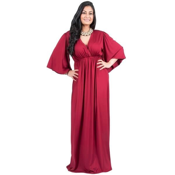 Shop Adelyn & Vivian Women\'s Plus-size Long Kimono Formal ...
