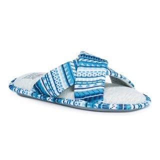 Muk Luks Women's Magda Blue Slippers