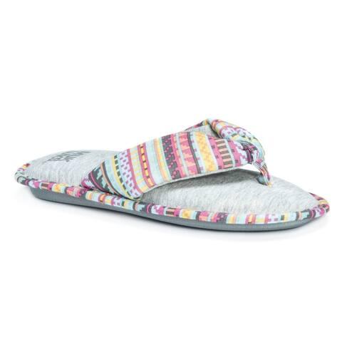 Muk Luks Women's Dawna Pink Slippers